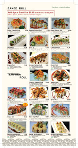 baked & tempura Roll